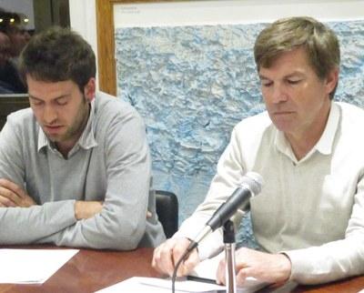 Lucas Ramírez, alcalde d'Olèrdola; i Josep Sánchez, portaveu del grup de CiU