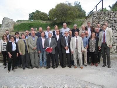 Alcaldes i caps de llista de CiU van anunciar la presnetació de la moció en un acte al Castell d'Olèrdola