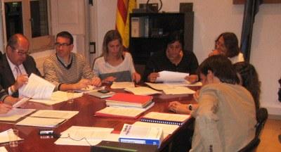 Imatge dels 5 regidors de CiU en un ple(foto:arxiu)