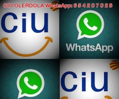 CiU Olèrdola activa un número de whatsapp