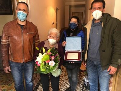 Claudina Marcé, veïna de Sant Pere Molanta, ha fet 100 anys