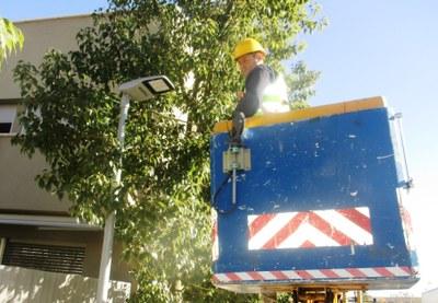 Comença a Moja la substitució de les llumeneres del municipi