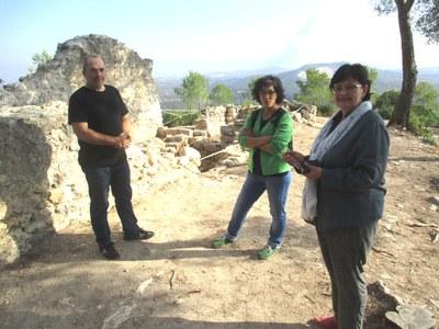Els restauradors Agustín Gabarra i Alfonsa Saavedra amb Núria Molist