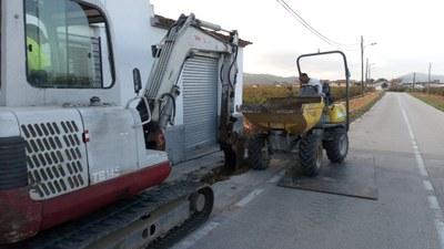 Comencen les obres del camí de vianants que unirà Sant Pere Molanta amb el barri de Can Ferran