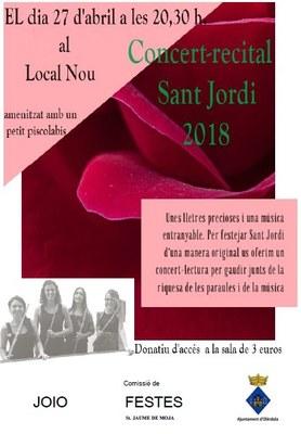Concert-recital de Sant Jordi aquest divendres a Moja