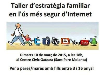 Convocat a Olèrdola un taller d'estratègia familiar en l'ús més segur d'Internet