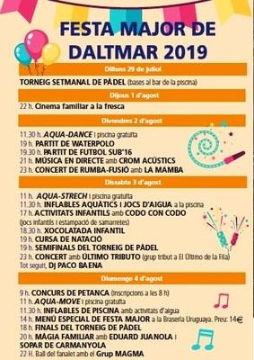 Daltmar pren el relleu a Moja aquest cap de setmana en les Festes Majors d'Olèrdola