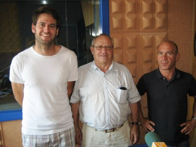 Lucas Ramírez, Jaume Pellisa i Javi Ros, de la Comissió de Festes de Moja
