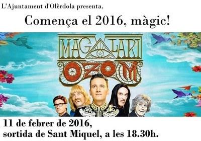 Desplaçament des d'Olèrdola a Barcelona per anar a veure l'espectacle Ozom del mag Lari