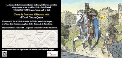 """Dijous es presentarà a Barcelona el còmic """"Terra de frontera. Olèrdola 1058"""""""