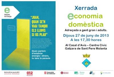 """Dijous que ve s'ha programat a Sant Pere Molanta una xerrada sobre  """"Economia domèstica"""""""