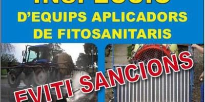 Dilluns 22 de juny es podrà fer a Olèrdola la inspecció tècnica d'equips aplicadors de fitosanitaris