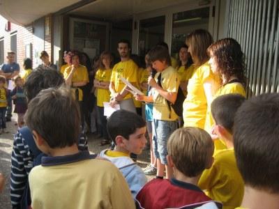 L'escola participava el 4 de juny en la jornada convocada per SOS Alt Penedès
