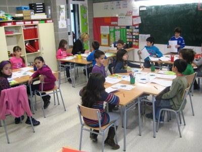 Aula de 2n de l'escola Rossend Montané