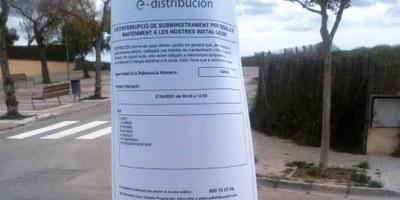 Dimarts al matí, de 8 a 12h, hi haurà un tall de subministrament elèctric en punts del poble de Moja