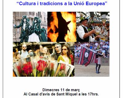 Xerrada dimecres a Sant Miquel sobre cultura i tradicions a la Unió Europea