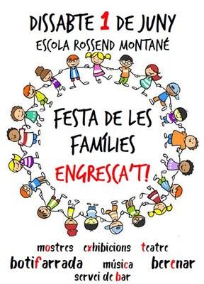 Dissabte 1 de juny l'escola Rossend Montané viurà la Festa de les Famílies