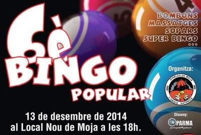 Dissabte a la tarda, 6é Bingo Popular dels Diables de Moja