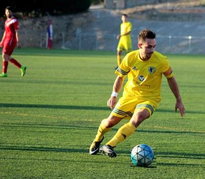 Dissabte el capità del Moja Roger Ollè feia un hat-trick davant del Montserrat d'Igualada
