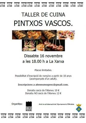 Dissabte s'ha programat a Moja un taller de cuina per elaborar pinxos bascos