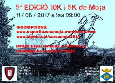 Diumenge 11 de juny Moja viurà la 5a edició de la cursa 10K i 5k