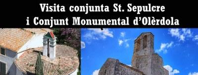 Diumenge 24 d'abril es podrà fer visita conjunta al Sant Sepulcre i al Conjunt Monumental d'Olèrdola
