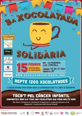 Divendres 14 de febrer l'escola Circell de Moja acollirà la 3a Xocolatada Solidària per a la investigació del càncer infantil