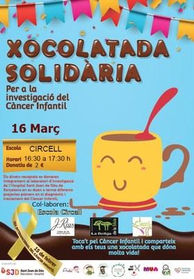 Divendres 16 de març, xocolatada solidària a l'escola Circell per a la investigació del càncer infantil