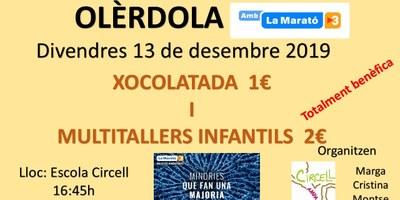 Divendres a l'escola Circell hi haurà xocolatada i tallers infantils a benefici de La Marató de TV3