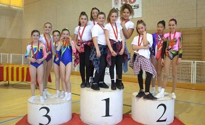 Dos ors i un bronze de l'Aeròbica d'Olèrdola en la Copa Catalana