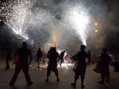 Drac i Diables de Moja han participat en la Festa Major de Rubí