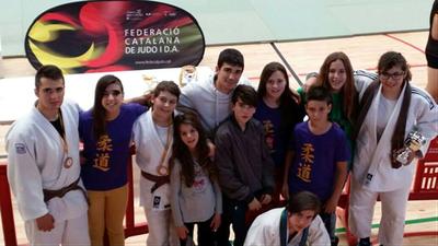 Dues plates i tres bronzes del Judo Olèrdola en el Campionat de Catalunya