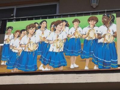 Durant aquesta Festa Major es mostren al carrer 8 quadres dedicats als balls populars de Moja