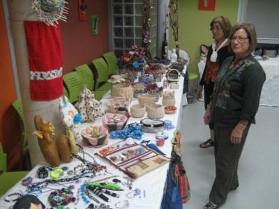 Durant la FM de Sant Miquel s'ha pogut veure una meritòria exposició de manualitats