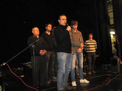 Joan Rios, president d'AMPERT, intervenint a Moja aquest diumenge
