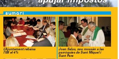 """Edició de desembre del butlletí municipal """"Olèrdola Informació"""""""