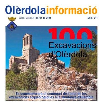 """Editat el butlletí """"Olèrdola Informació"""" d'aquest mes de febrer"""