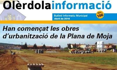 """Editat el butlletí municipal """"Olèrdola Informació"""" d'aquest mes d'abril"""