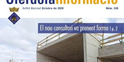"""Editat el butlletí municipal """"Olèrdola Informació"""" d'aquest mes d'octubre"""