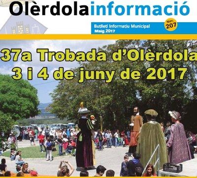 """Editat el butlletí municipal """"Olèrdola Informació"""" d'aquest mes de maig"""
