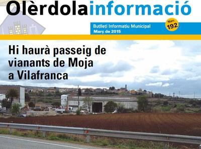 """Editat el butlletí municipal """"Olèrdola Informació"""" d'aquest mes de març"""
