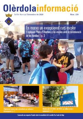 """Editat el butlletí municipal """"Olèrdola Informació"""" d'aquest setembre"""