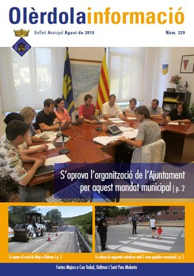 """Editat un nou butlletí municipal """"Olèrdola Informació"""""""