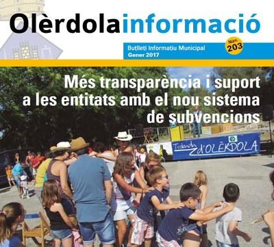 """Nova edició del butlletí """"Olèrdola Informació"""", que recupera la seva periodicitat mensual"""
