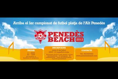 El 1r campionat de futbol platja de l'Alt Penedès es jugarà a Sant Miquel els dies 13 i 14 de juliol