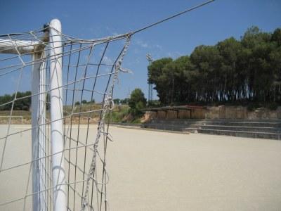 """El camp de futbol """"El Bosquet"""" de Sant Miquel, aquest dimecres al migdia"""