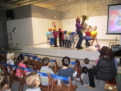 """El """"Barna Brass Quintet"""" dóna relleu a l'inici del curs que l'escola de Sant Pere dedica a la música"""