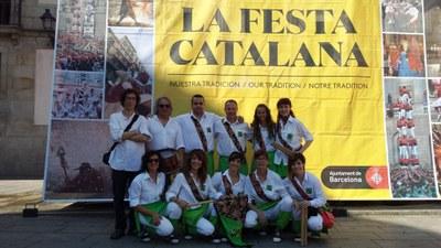"""El ball de bastons """"El Toc d'Olèrdola"""" participava dissabte a Barcelona a la """"Festa Catalana"""""""