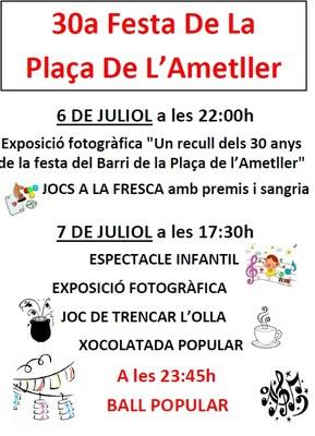 El barri de la plaça de l'Ametller de Moja celebra la seva 30a festa aquest divendres i dissabte