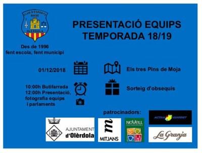 El Base Olèrdola celebra aquest dissabte la jornada de presentació dels seus equips